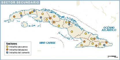 Cuba mapa sector secundario
