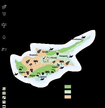Cyprus Economic map