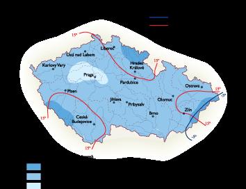 Czech Republic Climate map