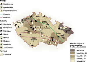 Czech Republic Economic map