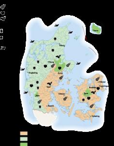 Denmark Agricultural map
