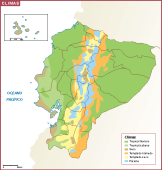 Ecuador mapa clima