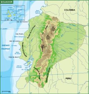 Ecuador mapa fisico