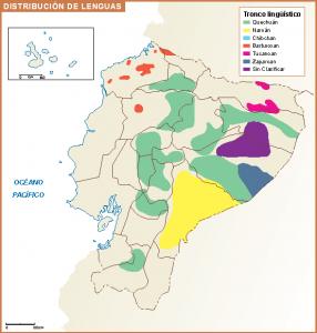 Ecuador mapa lenguas