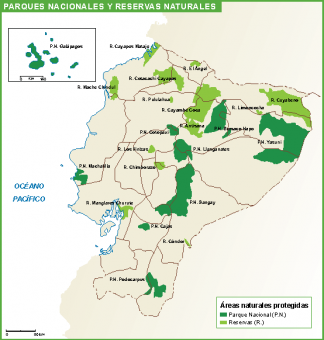 Ecuador mapa parques