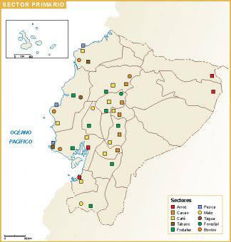 Ecuador mapa sector primario