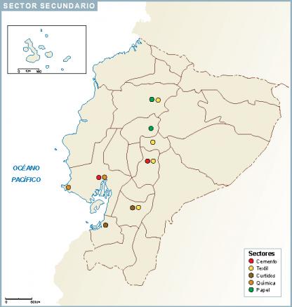 Ecuador mapa sector secundario