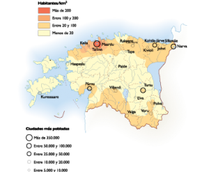 Estonia Population map