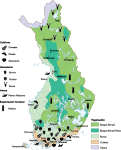 Finland Agricultural map