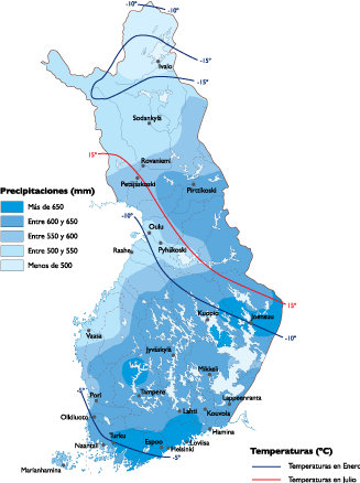 Finland Climate map