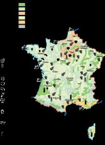 France Agricultural map