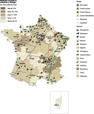 France Economic map