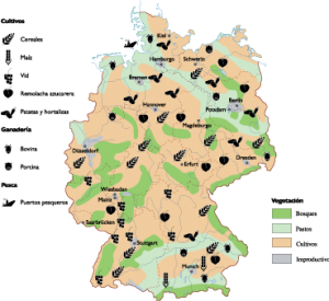 Germany Agricultural map
