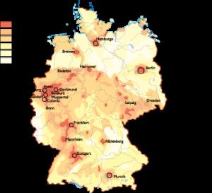 Germany Population map