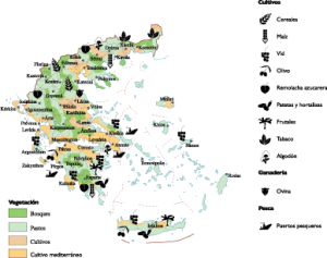 Greece Agricultural map