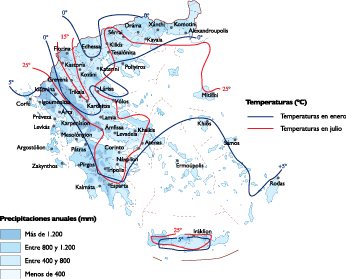 Greece Climate map