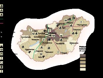 Hungary Economic map