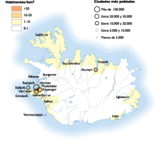 Iceland Population map