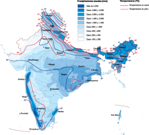 India Climate map