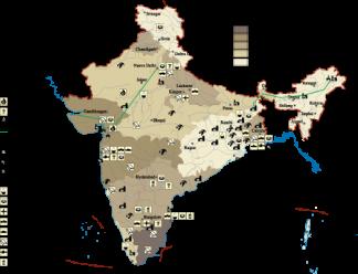 India Economic map