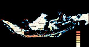 Indonesia Population map