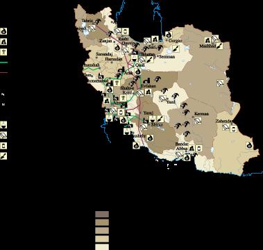 Iran Economic map