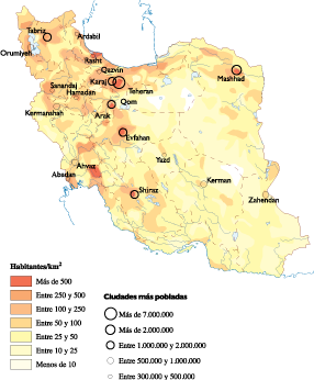 Iran Population map
