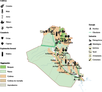 Iraq Economic map