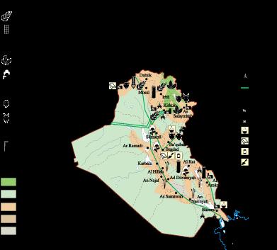 Iraq Economic map