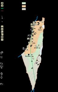 Israel Economic map