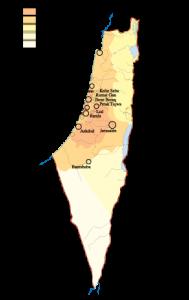 Israel Population map