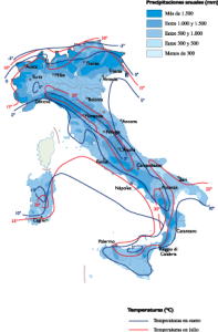 Italy Climate map