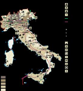 Italy Economic map