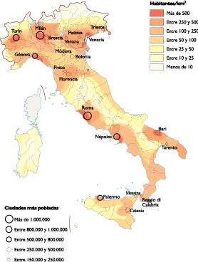 Italy Population map