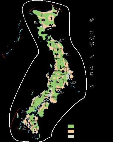 Japan Agricultural map