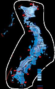 Japan Climate map