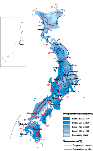 Japan Climate map