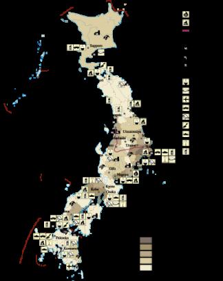 Japan Economic map