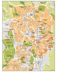 Jerusalem Vector Map
