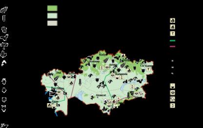 Kazajstan Economic map