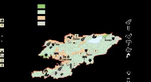 Kirgizistan Economic map