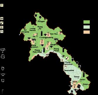 Laos Economic map