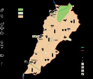 Lebanon Economic map