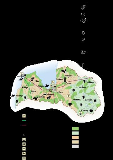 Letonia Economic map