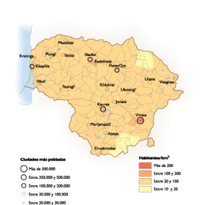 Lithuania Population map