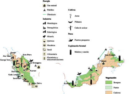 Malaysia Economic map