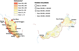 Malaysia Population map