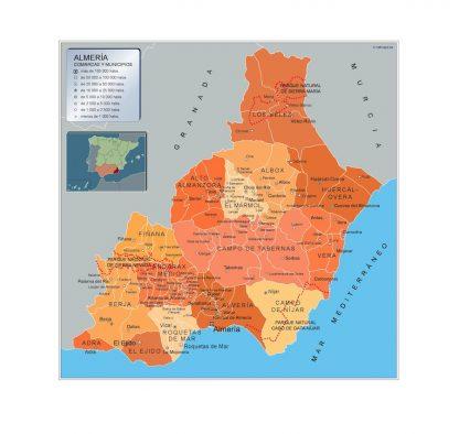 Mapa Municipios Almeria