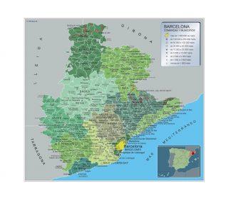 Mapa Municipios Barcelona