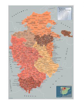 Mapa Municipios Burgos